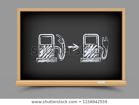 blackboard evolution future gas station Stock photo © romvo