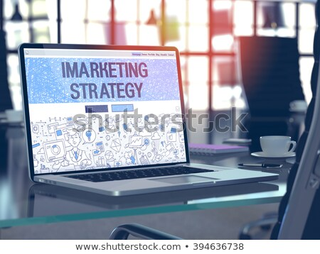 Landing Page of Laptop with Monetizing Concept. 3d. Stock photo © tashatuvango