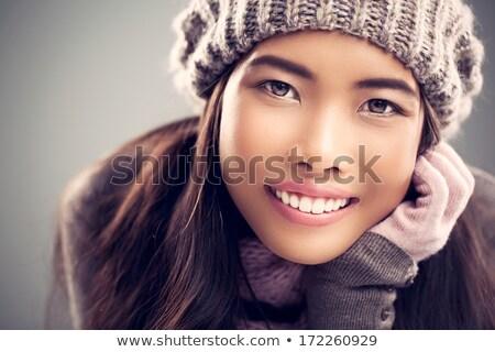 Stok fotoğraf: Portre · Asya · kadın · şapka · poz