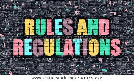 Reglement donkere muur doodle iconen business Stockfoto © tashatuvango
