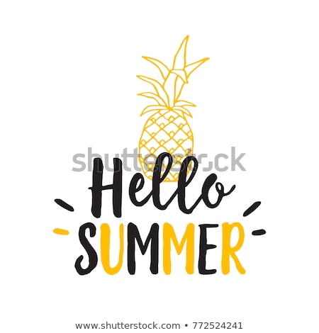 Welcome Summer Handwritten Lettering Stock photo © Anna_leni