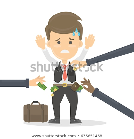 thieves   funny cartoon people characters illustration stock photo © decorwithme
