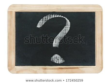 Small Chalkboard with Answers. Stock photo © tashatuvango