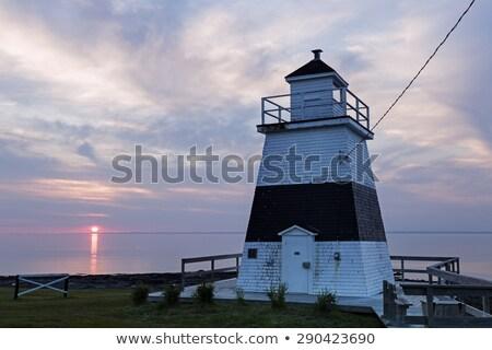 Faro tramonto costruzione panorama luce viaggio Foto d'archivio © benkrut