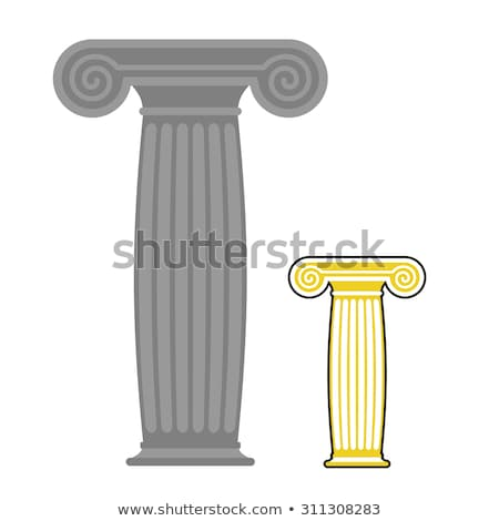 Old greek column. Vector illustration. Ancient stone high post Stock photo © popaukropa