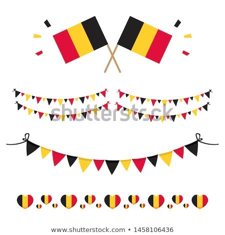 Belçika · kalp · bayrak · vektör · görüntü · soyut - stok fotoğraf © Amplion