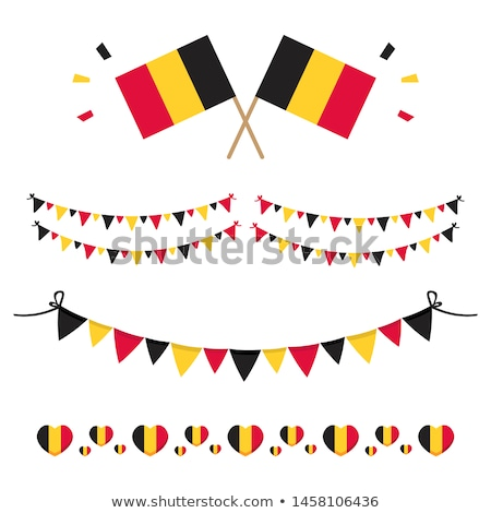 Belgium flat heart flag stock photo © Amplion