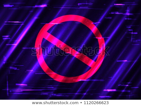 Prohibir signo símbolo plantilla rojo forma Foto stock © romvo