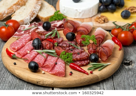assorted salami and bacon Stock photo © M-studio