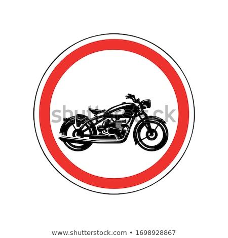 No motocicleta signo icono ruido Foto stock © romvo