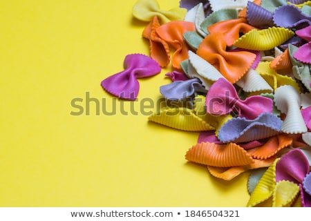 Stock photo: raw spelt flour assorted colorful pasta