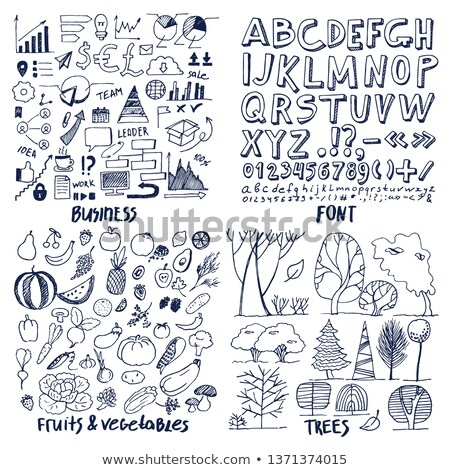 patterns of business things font trees vegetable stock photo © robuart