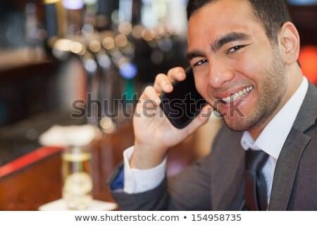 Short hair businessman black_alcohol Stock photo © toyotoyo