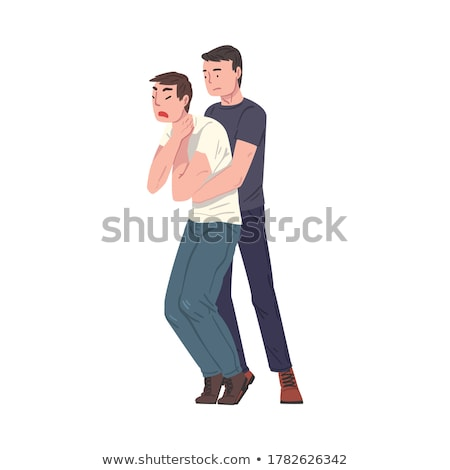 First aid choking on white background Stock photo © bluering