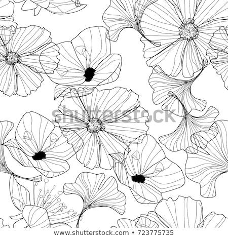 Retro spring flower pattern background art Stock photo © cienpies