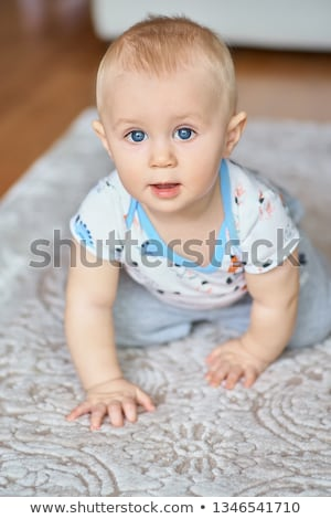 Blond baby boy with big blue eyes Stock photo © Giulio_Fornasar