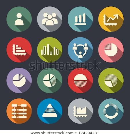 Diagram Area Flat Vector Icon Stock photo © smoki