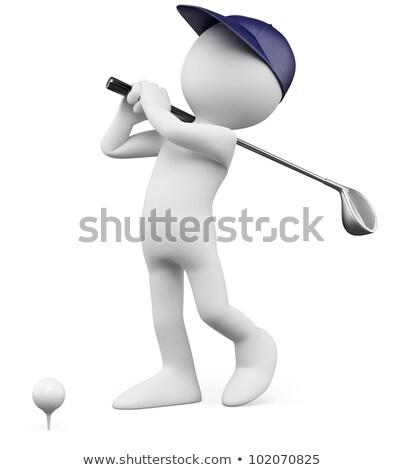 3 ª persona golf club pelota 3D imagen Foto stock © AlexMas