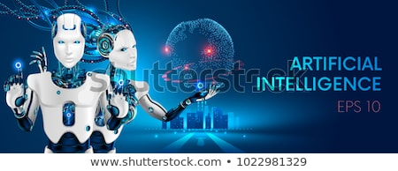 Smart Robots and Intellect Vector Illustration Stock photo © robuart