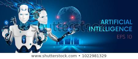 Okos robotok értelem különböző formák érzelmek Stock fotó © robuart