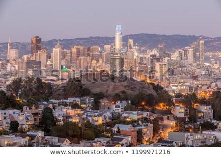Crepúsculo San Francisco centro da cidade dia luzes tiro Foto stock © yhelfman