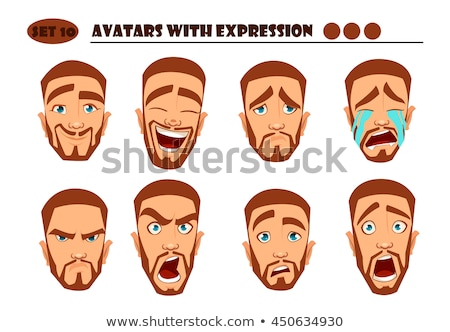 Cartoon enojado irlandés hombre mirando trébol Foto stock © cthoman