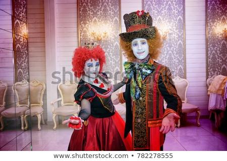 Triste pazza clown creativo party Foto d'archivio © msdnv