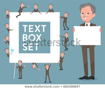 flat type Double suit old men_text box Stock photo © toyotoyo