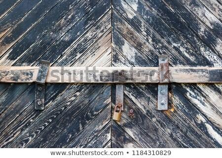 Fából készült ajtók átló közelkép részlet háttér Stock fotó © boggy