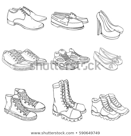 High boot hand drawn outline doodle icon. Stock photo © RAStudio