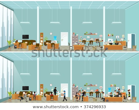 Boss Talking on Phone in Office, Coworkers in Room Stock photo © robuart