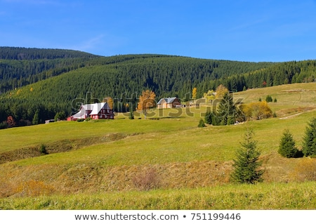Mala Upa and mountain huts in autumn in Giant  Mountains Stock photo © LianeM