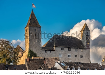 Castelo Suíça Zurique lago viajar europa Foto stock © boggy