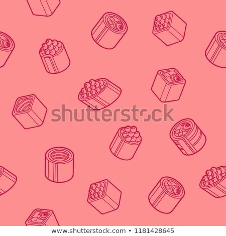 sushi flat outline isomeric patten stock photo © netkov1