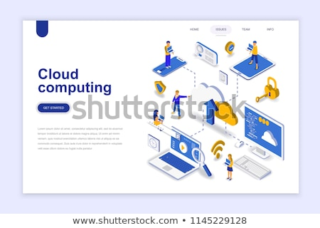 Cloud computing securityconcept landing page. Stock photo © RAStudio