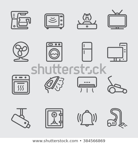 icon of electric industrial dryer stock photo © angelp