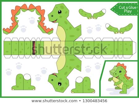 dzsungel · puzzle · vektor · grafikus · szett · kicsi - stock fotó © colematt