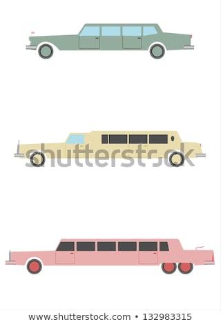 vetor · desenho · animado · limusine · eps8 · grupos · fácil - foto stock © mechanik