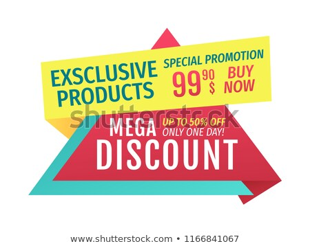 Mega Discount Buy Now Exclusive Products Banner Stock photo © robuart