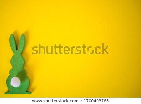 Húsvét üdvözlőlap háttér színes mézeskalács sütik Stock fotó © karandaev