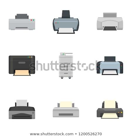 vector set of printer Stock photo © olllikeballoon