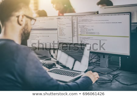 Website Development, Programmers Working on Web Foto stock © robuart