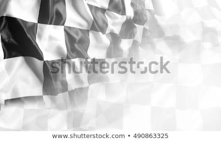checkered flag racing flag background stock photo © andreasberheide