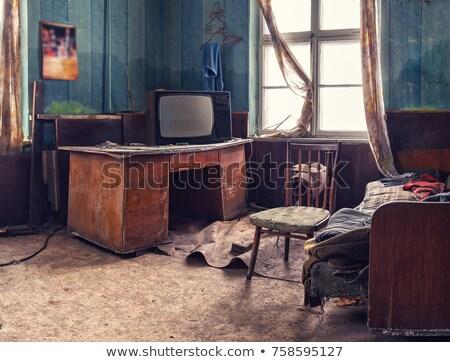 Vintage vieux endommagé maison détail patiné Photo stock © simazoran