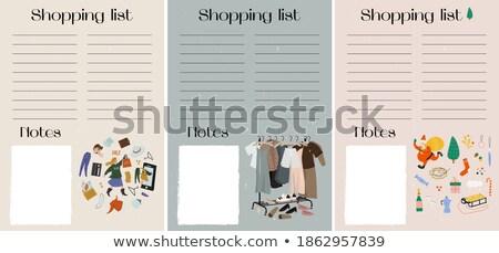 Vásárlás tervek vásárol új dolgok vektor Stock fotó © robuart