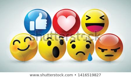 Сток-фото: смеясь · смайлик · икона · 3D · счастливым
