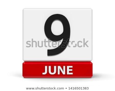 Cubes calendar 9th June Stock photo © Oakozhan