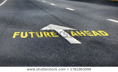 Ok kelime ileri asfalt yol Stok fotoğraf © dolgachov