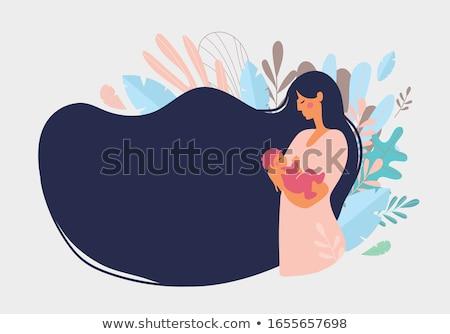 Szülő gondoskodó boldog anyaság újszülött vektor Stock fotó © robuart