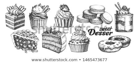 Krémes bogyó torta édes desszert klasszikus Stock fotó © pikepicture